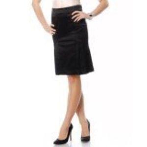 Bebe black Stain Pleated Pencil Skirt